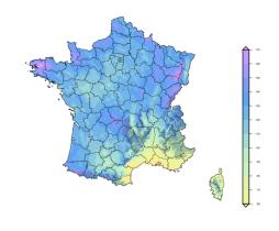 Régimes pluviométriques - Pluies extrêmes en France métropolitaine