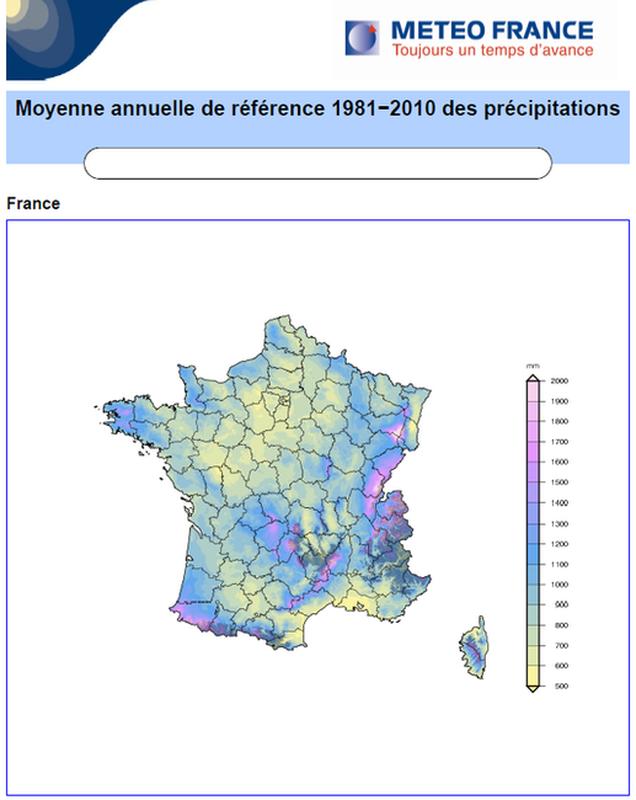Carte Precipitation Alsace.Regimes Pluviometriques Pluies Extremes En France